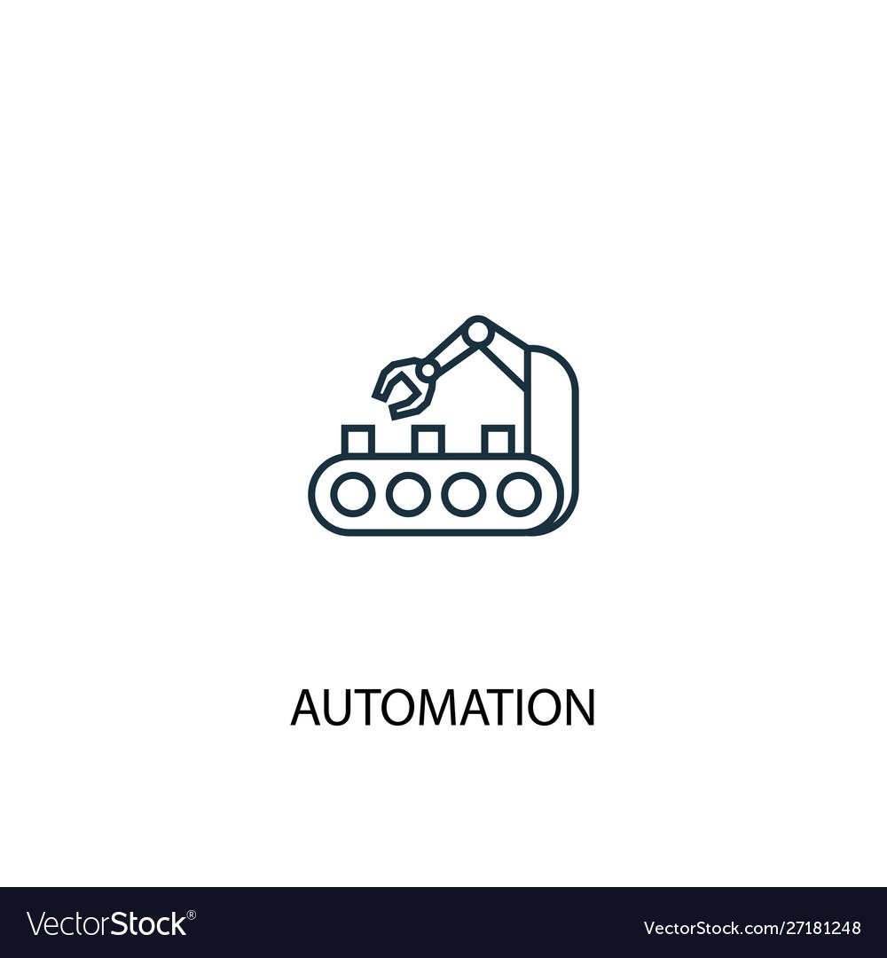 Automation concept line icon simple element
