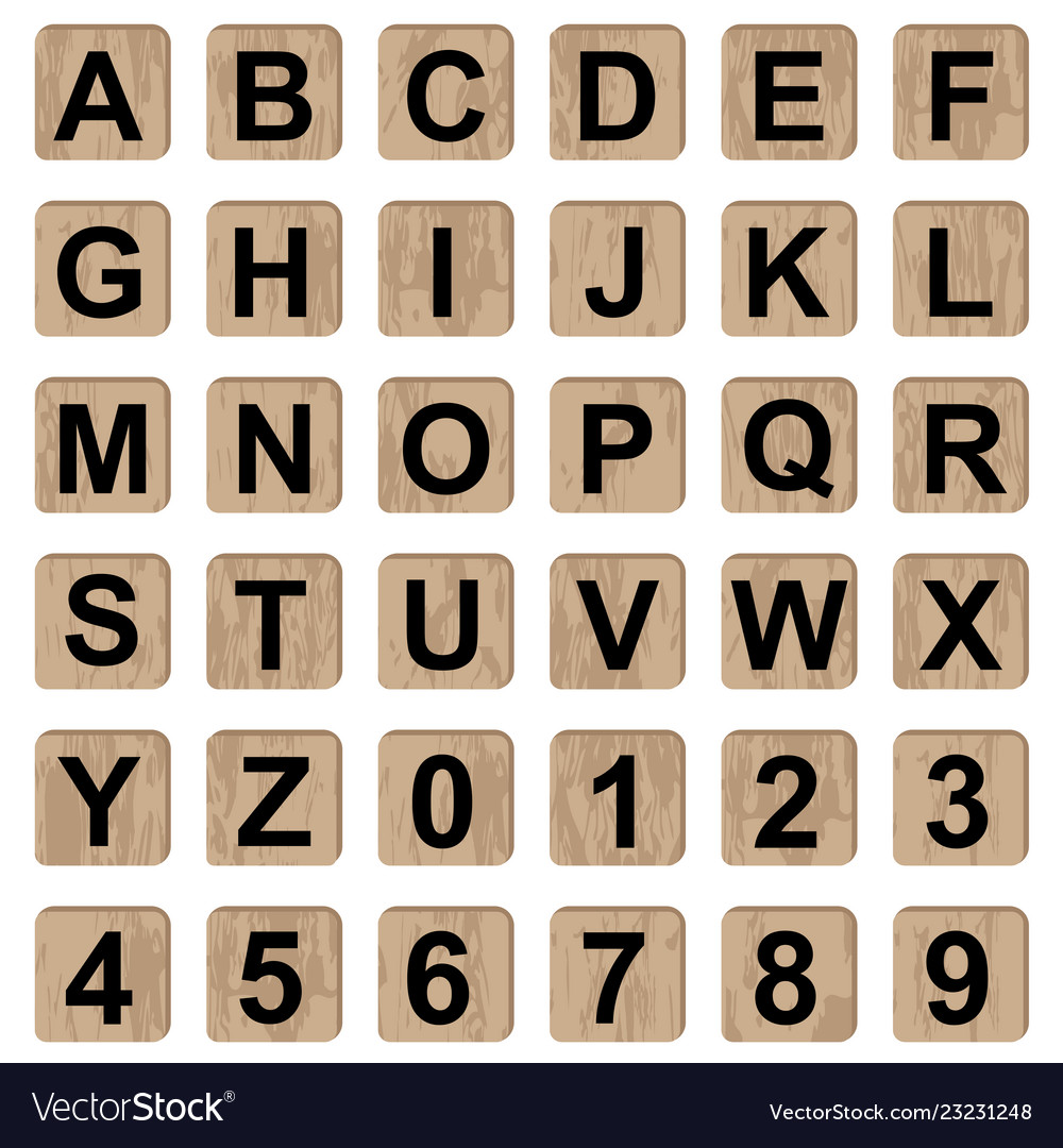 Board game alphabet letters and numbers