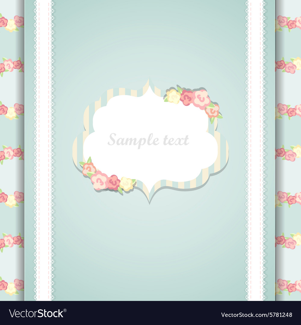 Cute blue and pink happy birthday card vector image