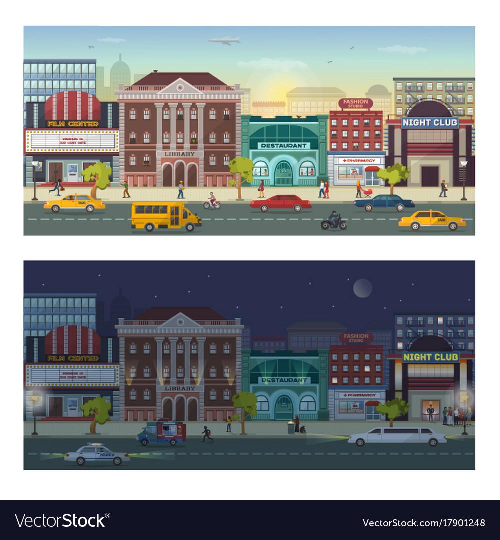 Modern urban architecture building cityscape