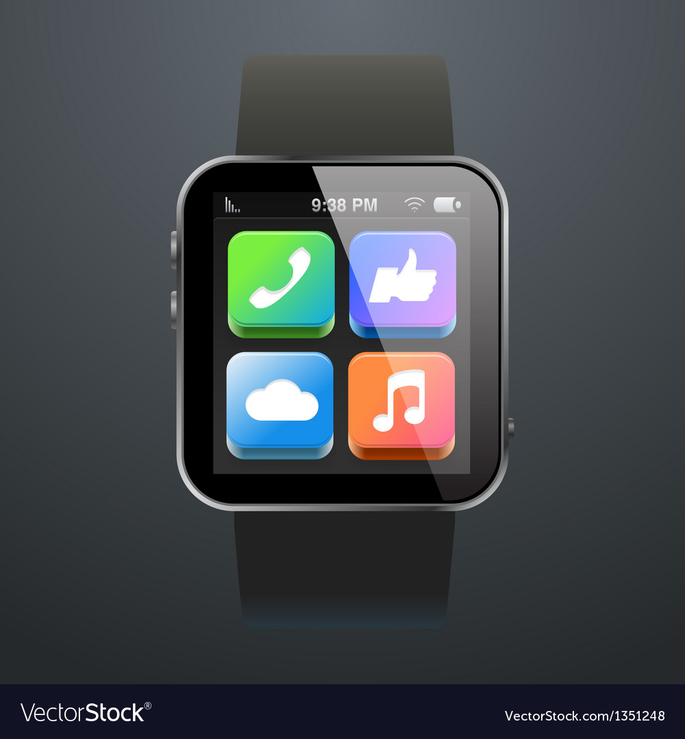Modern watch with App Icons