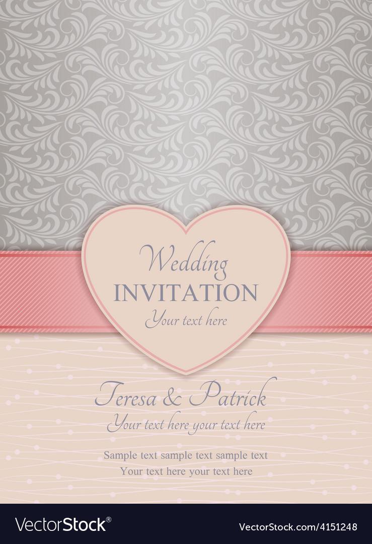 Modern Wedding Invitation Pink And Silver