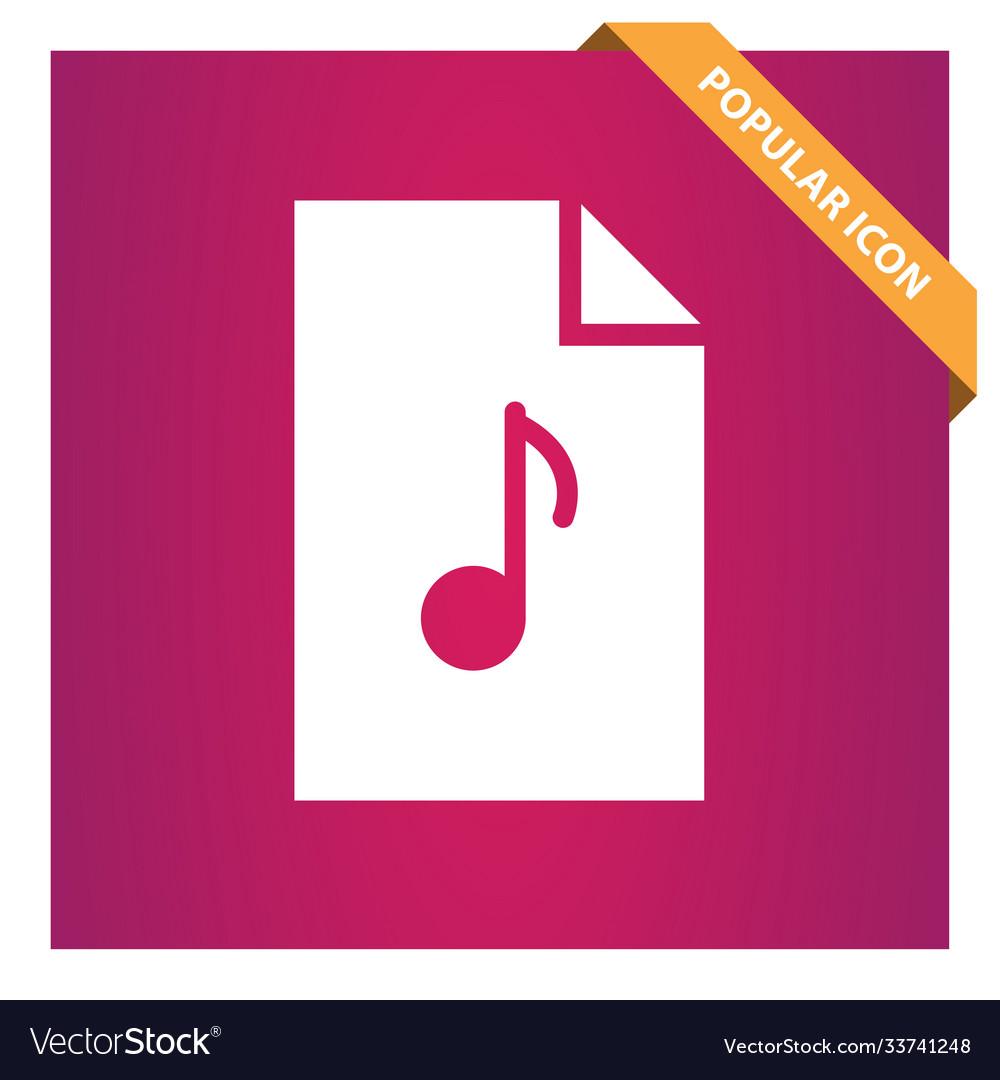 Mp3 music file icon
