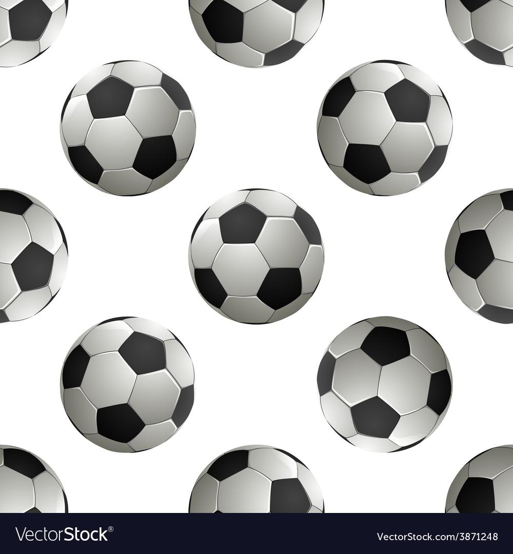 Soccer football seamless pattern