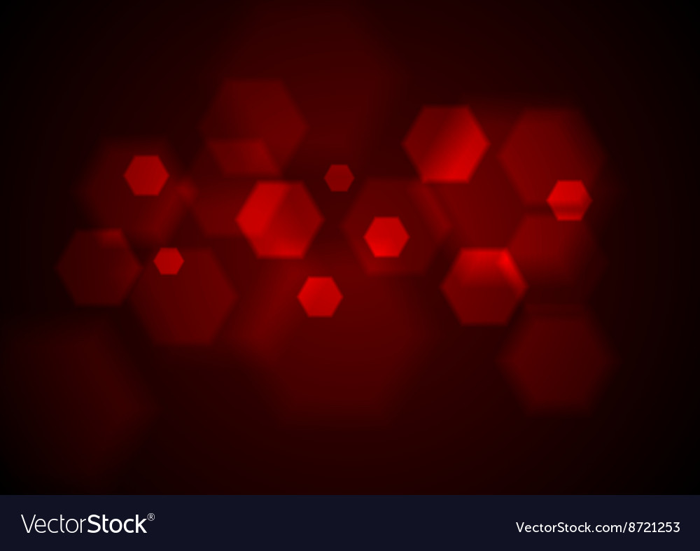 Dark red tech geometric background vector image