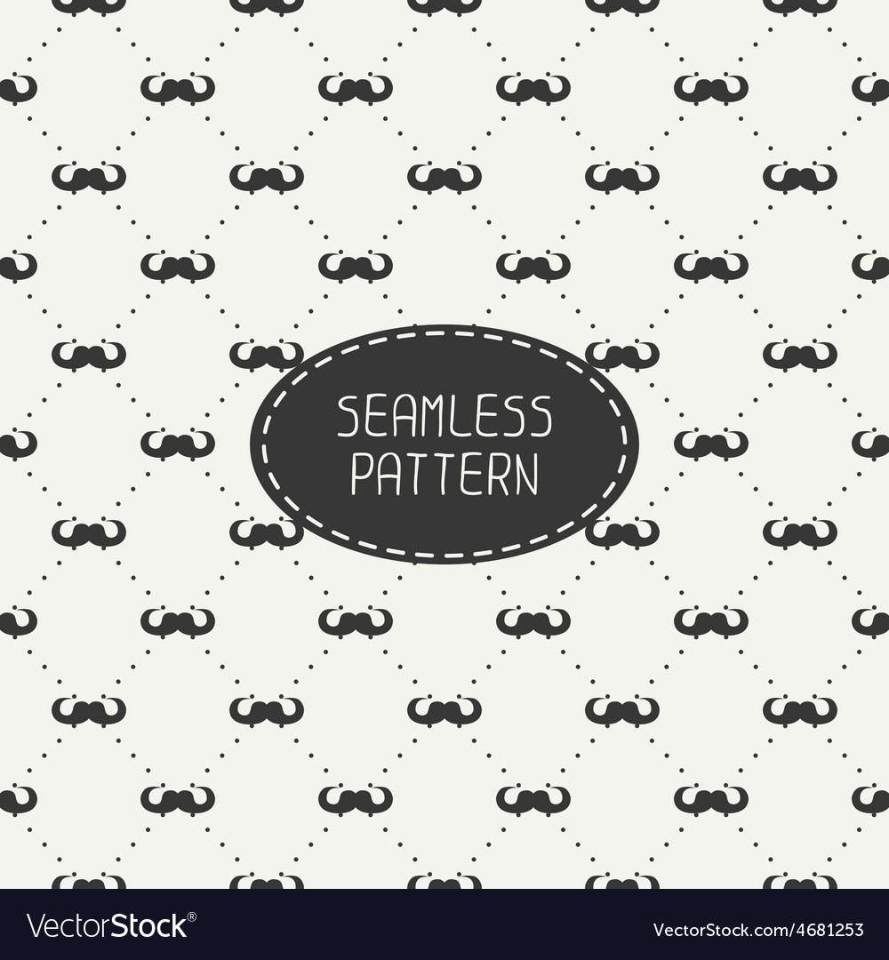 Fashionable seamless retro pattern with vector image