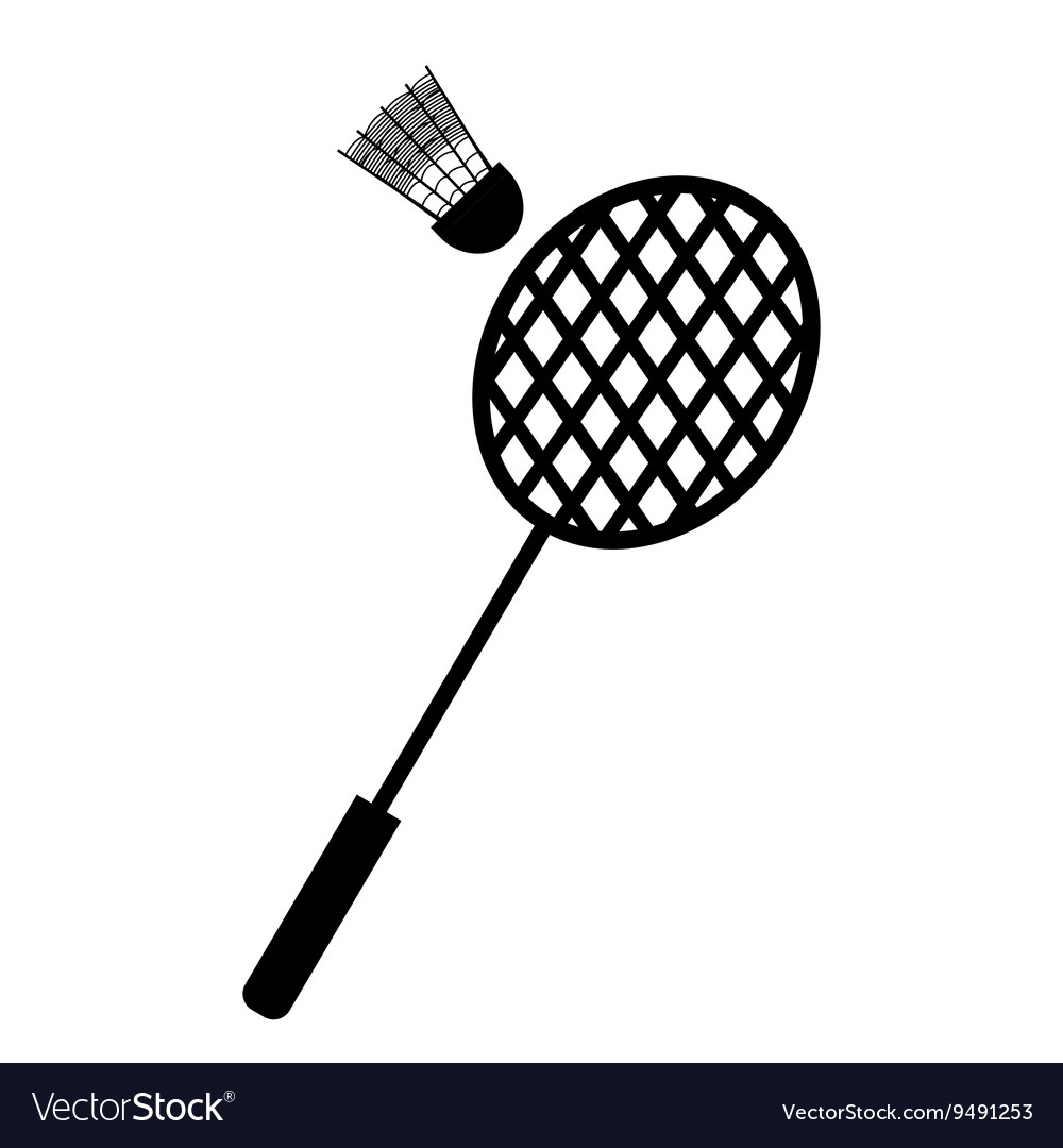 Playing badminton racket