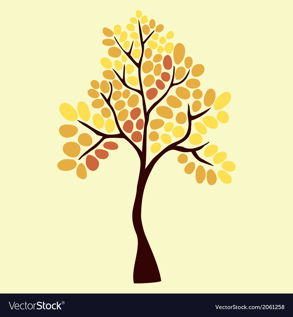 Autumn tree element for your design
