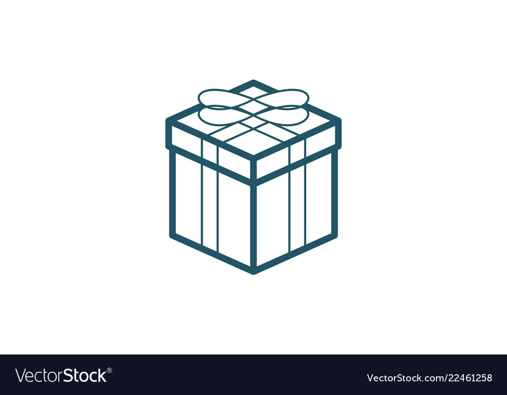 Box mono line logo design inspiration isolated on