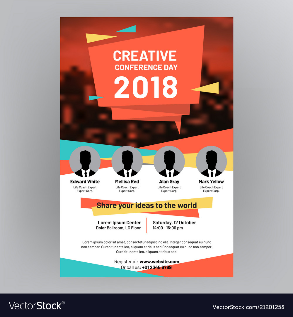 company brochure corporate flyer cover design vector image