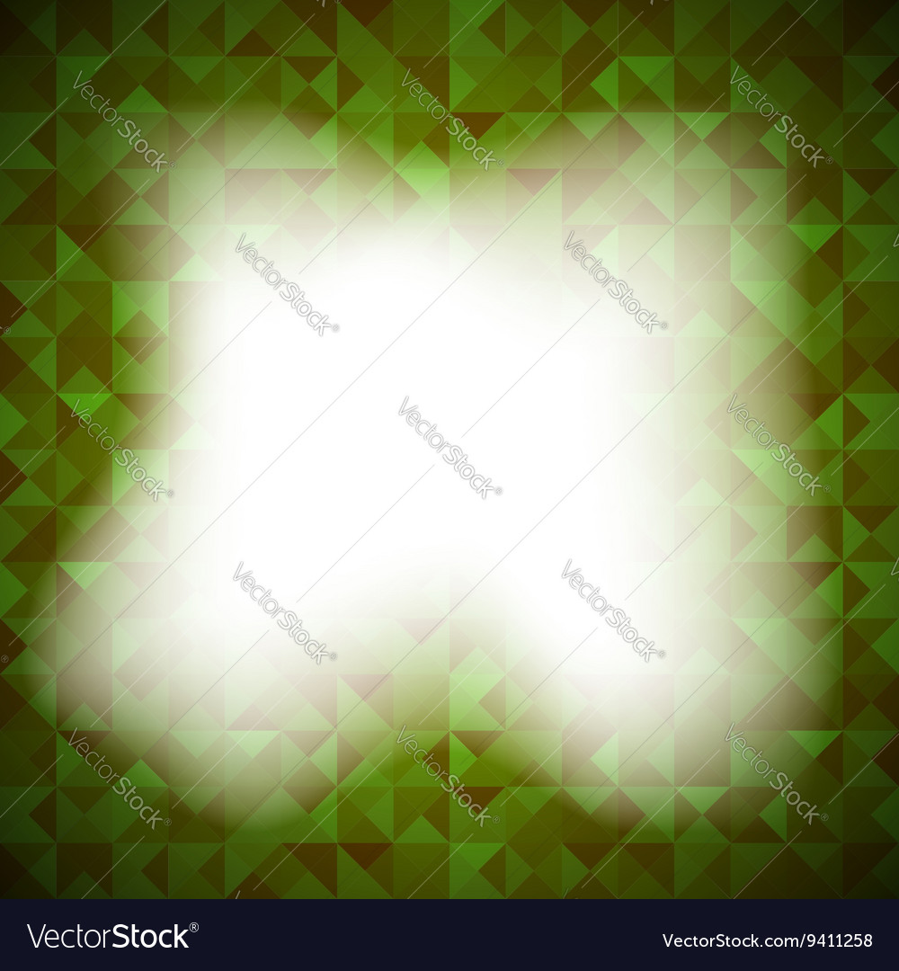 Green Background with Geometric Shapes Triangles