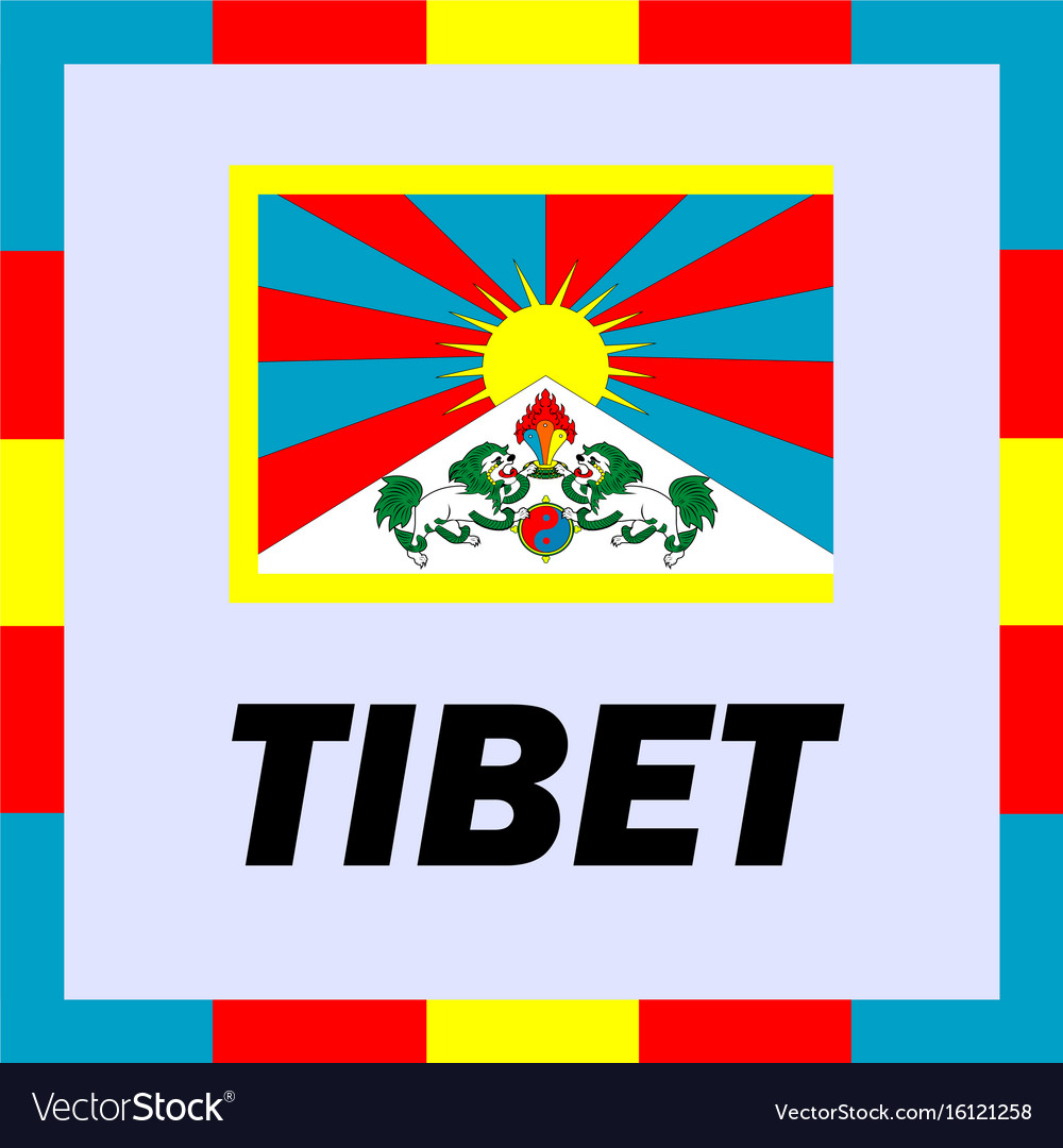 Official ensigns flag and coat of arm of tibet