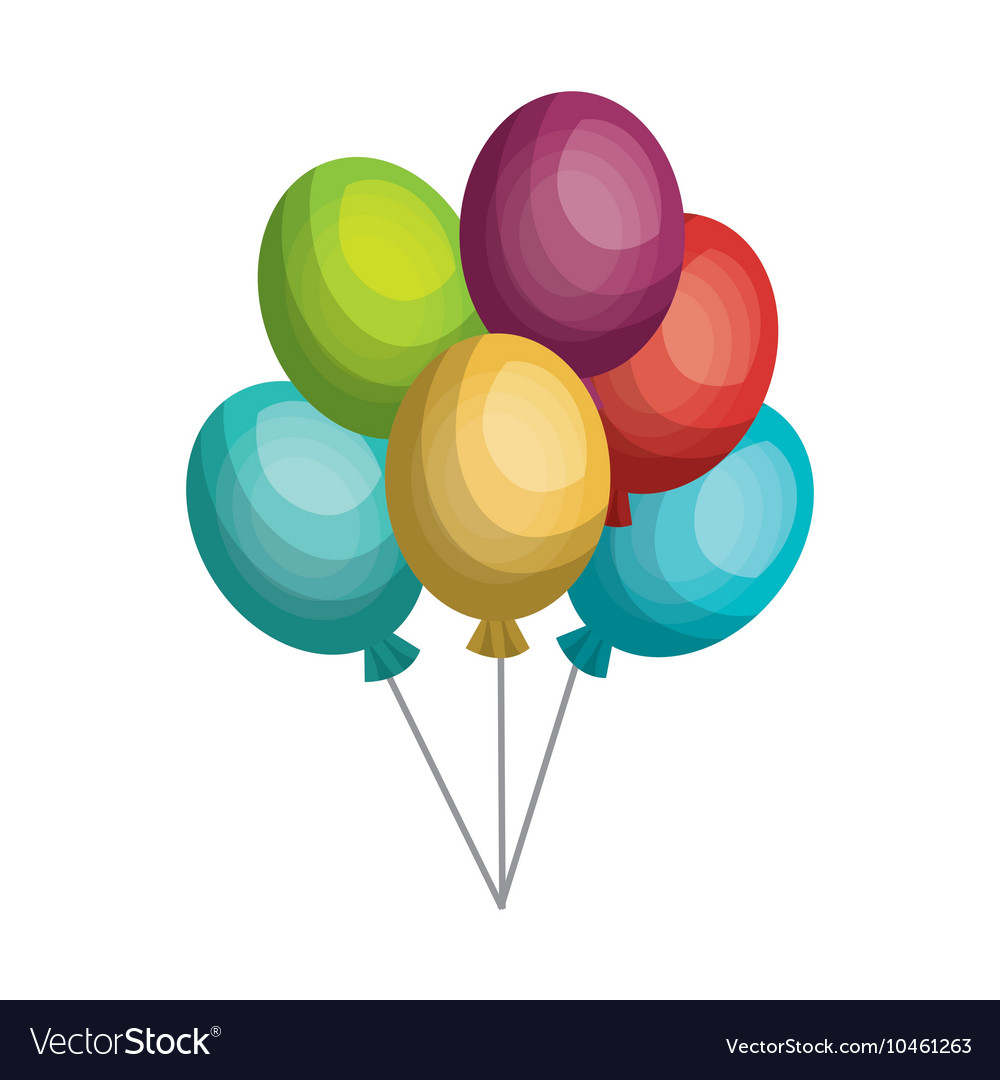 Balloons air party celebration isolated icon