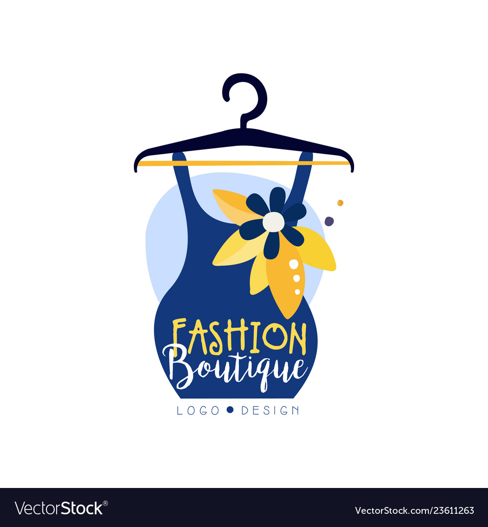 Fashion Boutique Logo Design Clothes Shop Beauty Vector Image