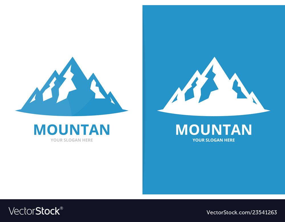 Mountain logo combination nature symbol or