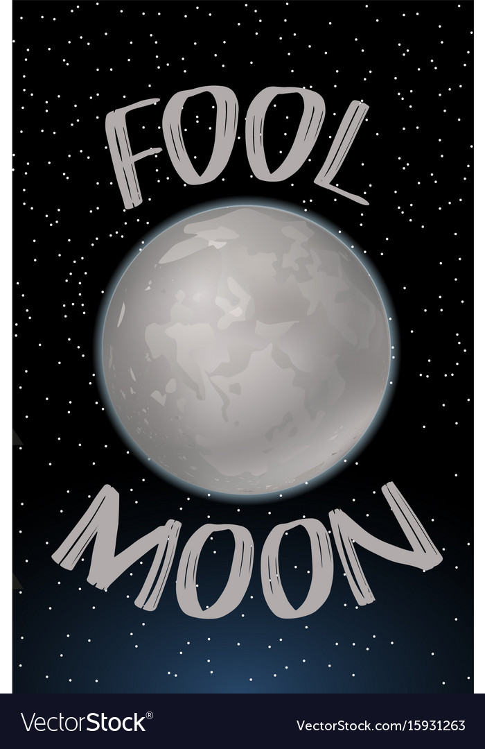 Poster design with fool moon