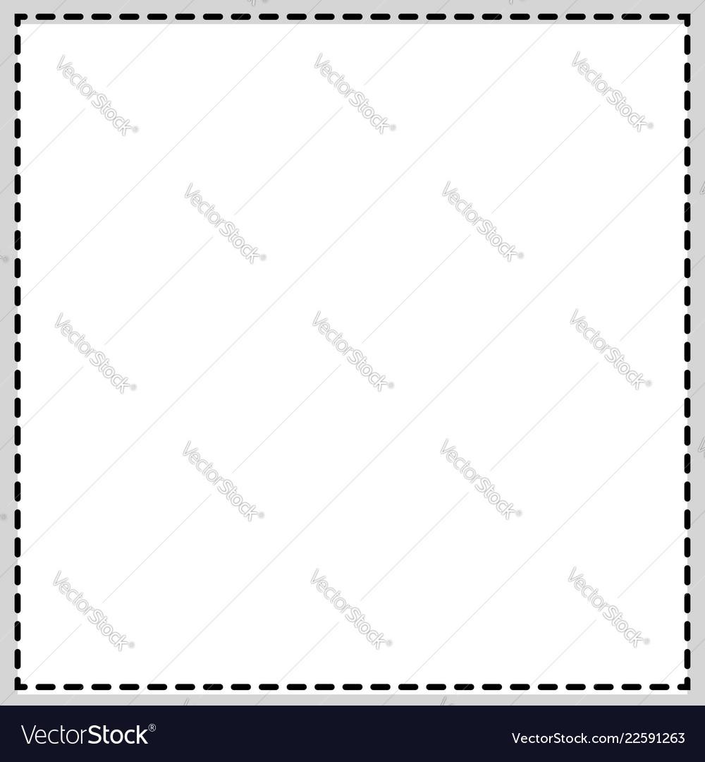 Rectangular square photo frame newspaper Vector Image
