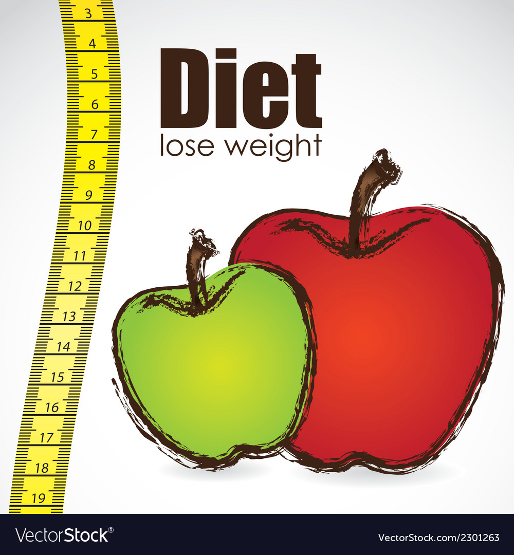 Tape measure with apple weight control