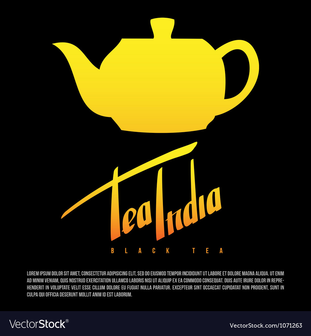 Tea india greetings hand lettering set vector image