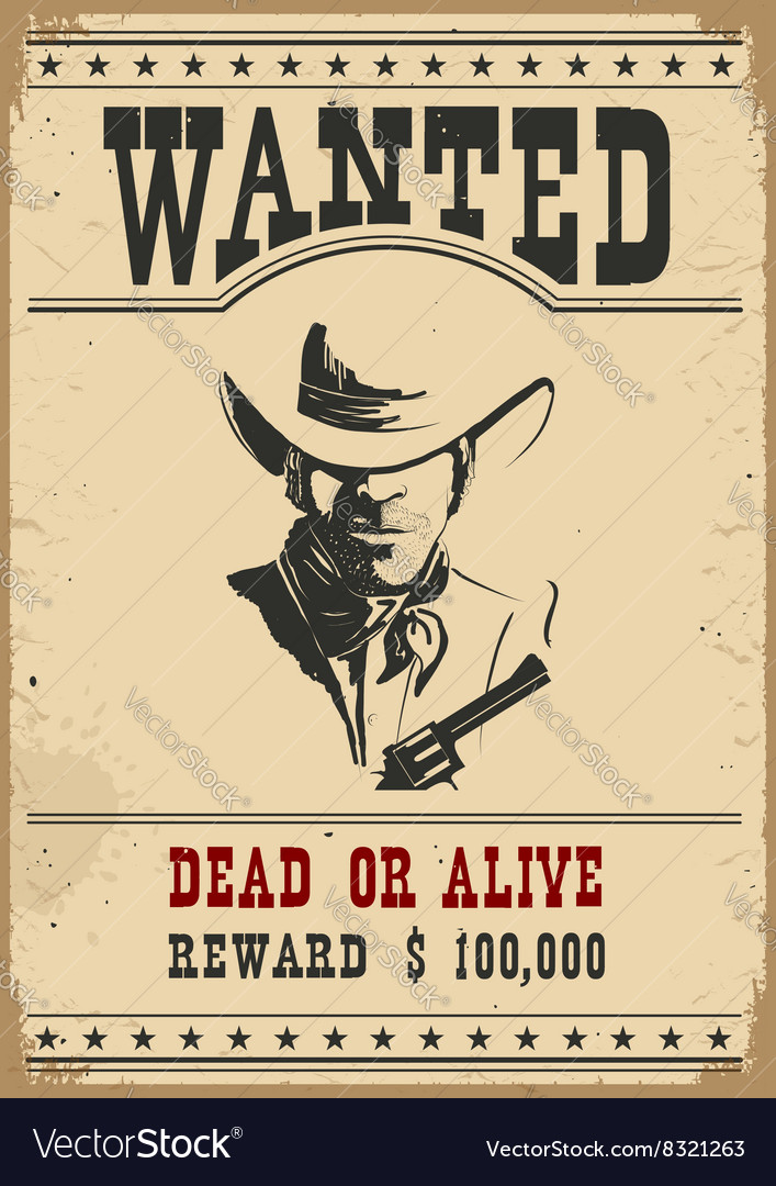 Wanted poster western