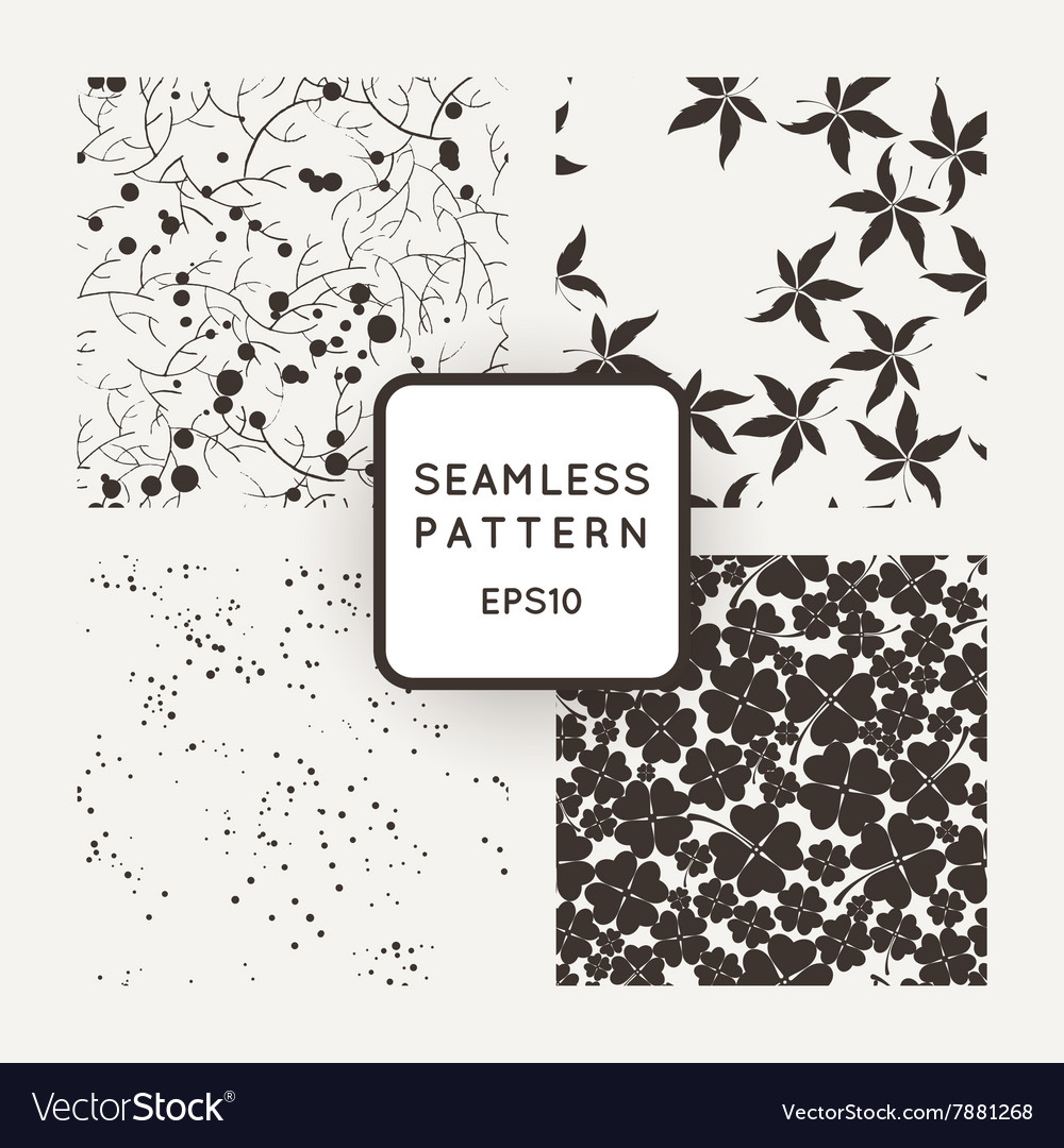 A set of four seamless patterns Squares