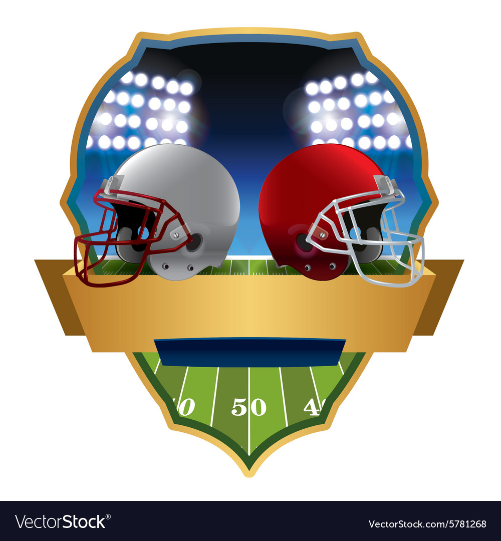 American football helmets emblem