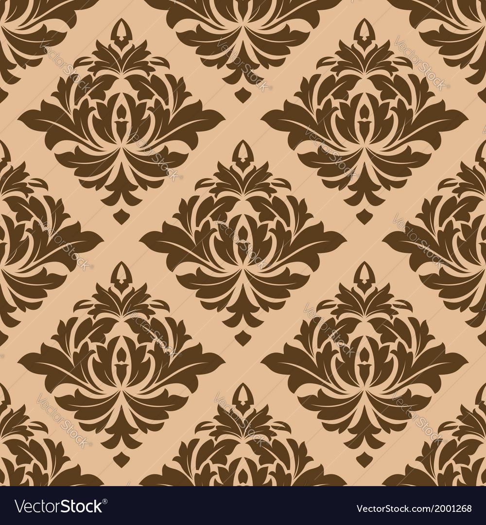Beige and brown arabesque motifs