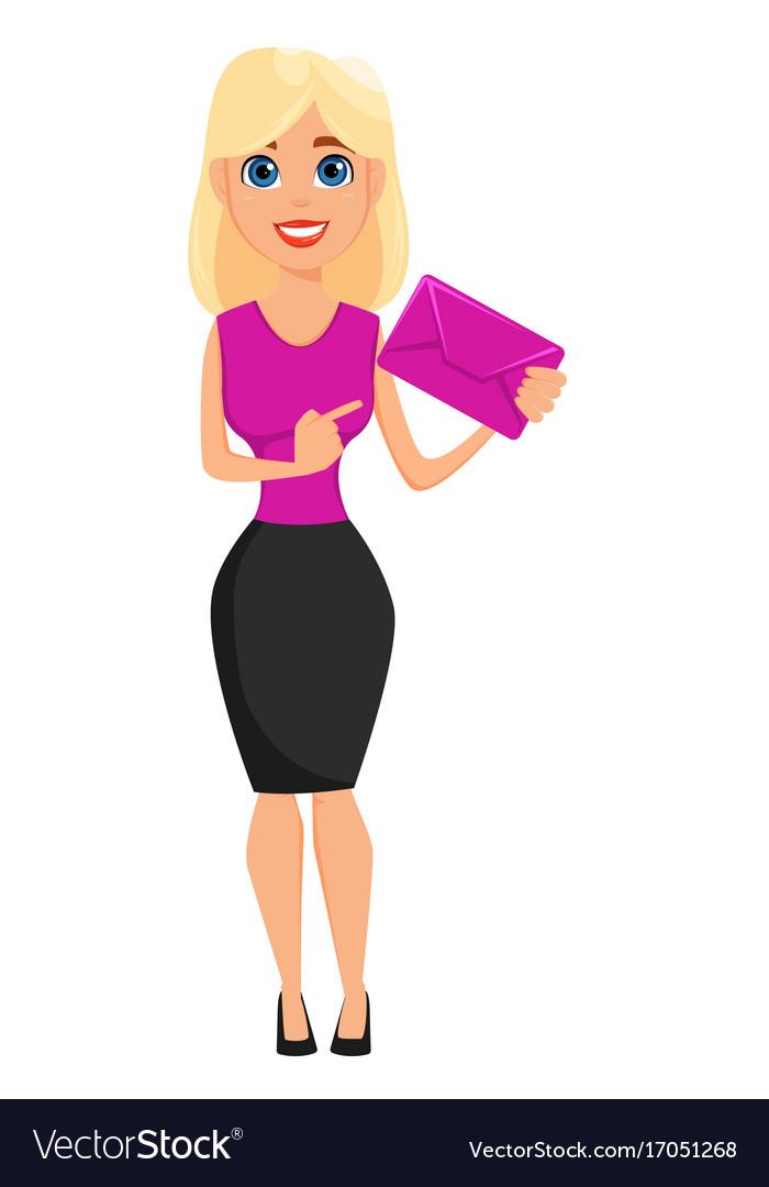 business woman cartoon character cute blonde vector image rh vectorstock com cartoon network blonde girl cartoon blonde girl images