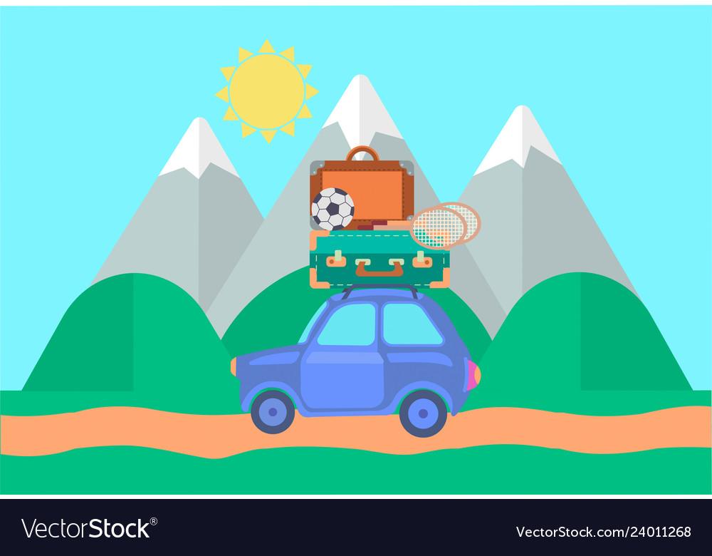 Car in travel