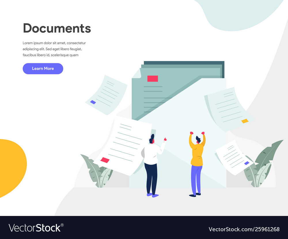 Documents concept modern flat design concept of