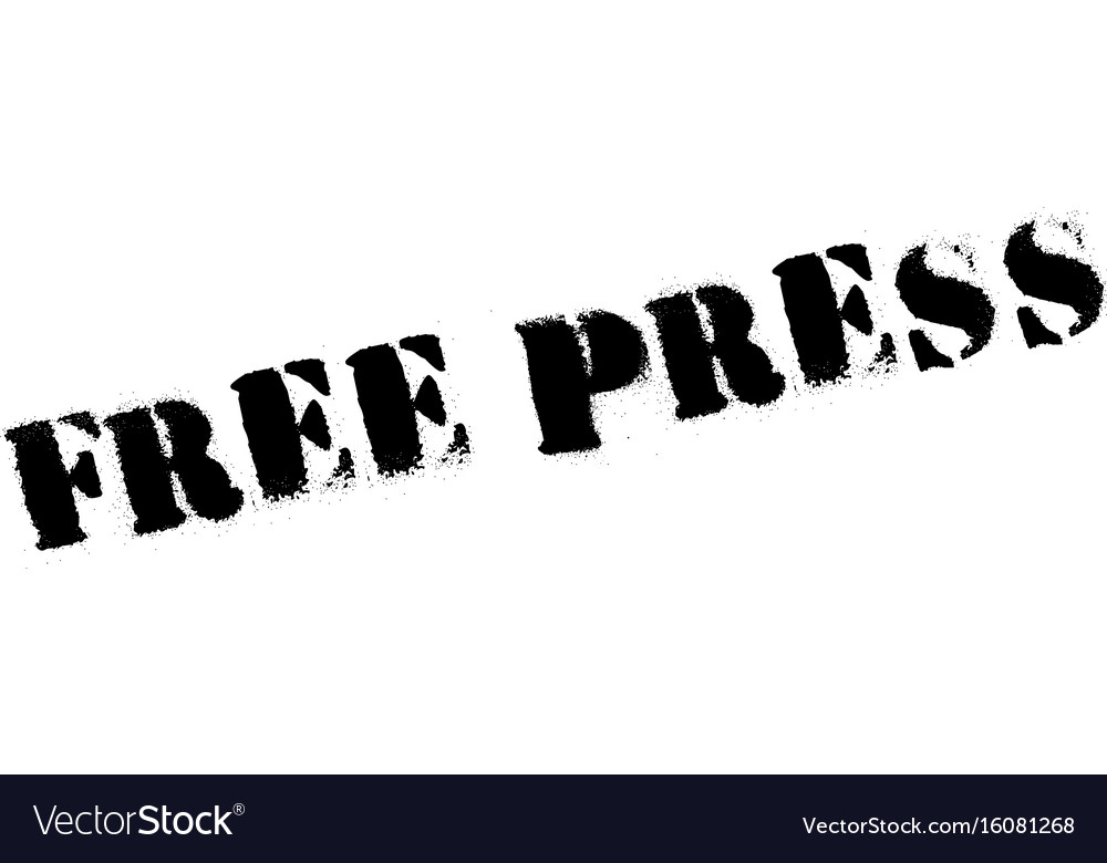 Free press rubber stamp
