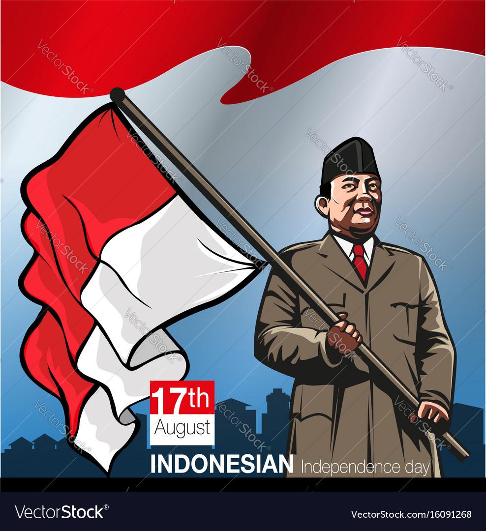 Hari ulang tahun indonesia merdeka vector image