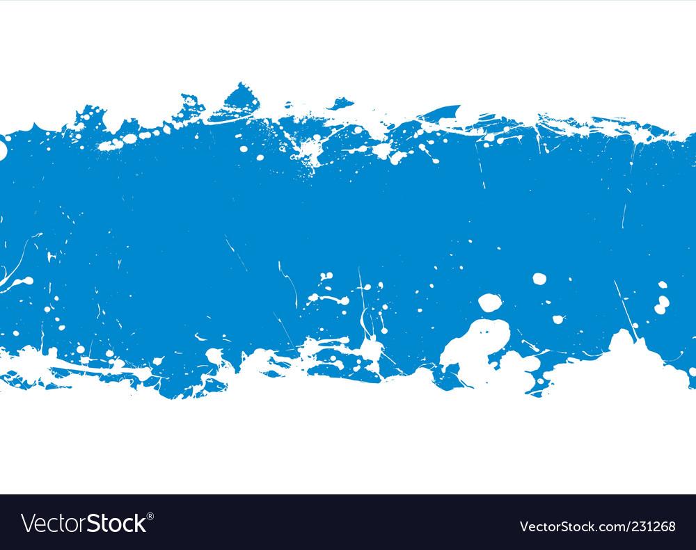 Ink splat banner vector image
