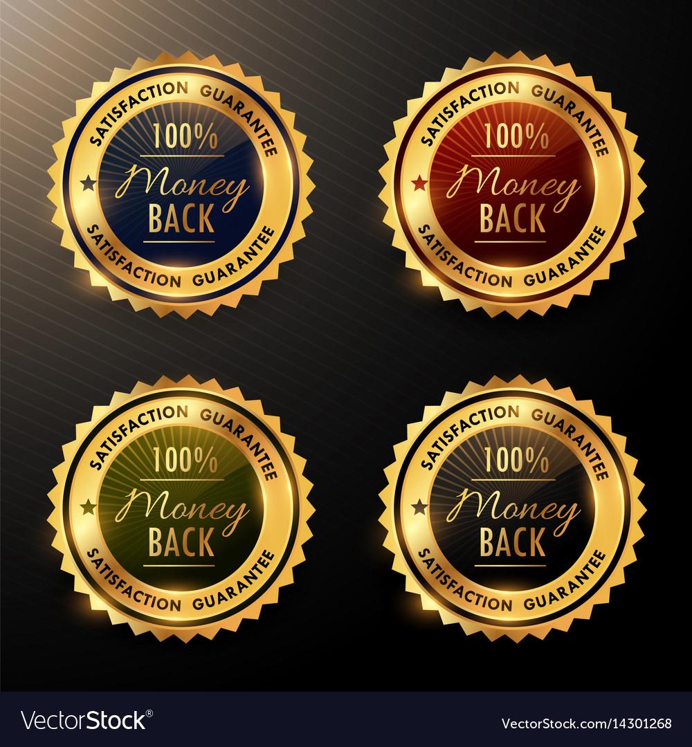 Money back guarantee badges set collection