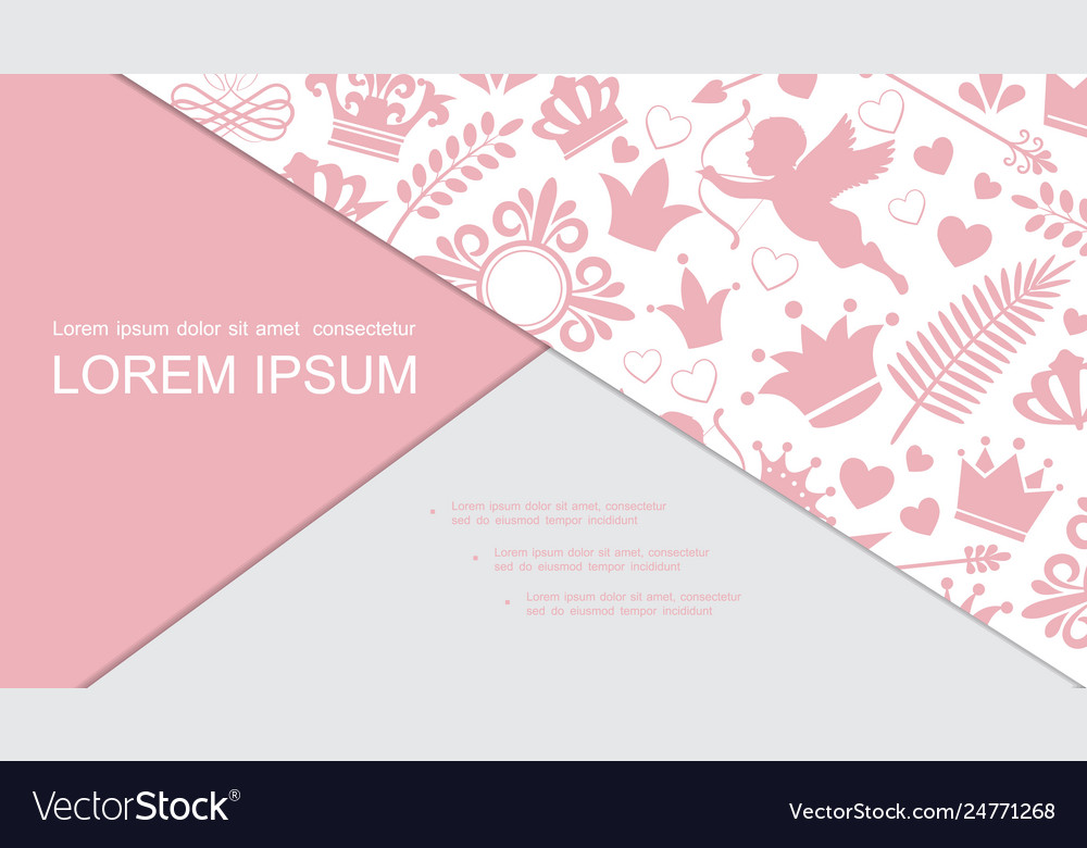 Retro Love Design Elements Composition Royalty Free Vector