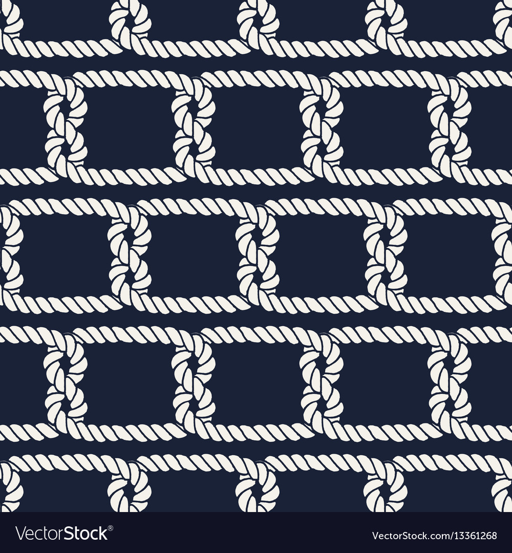 Seamless nautical rope pattern half knots