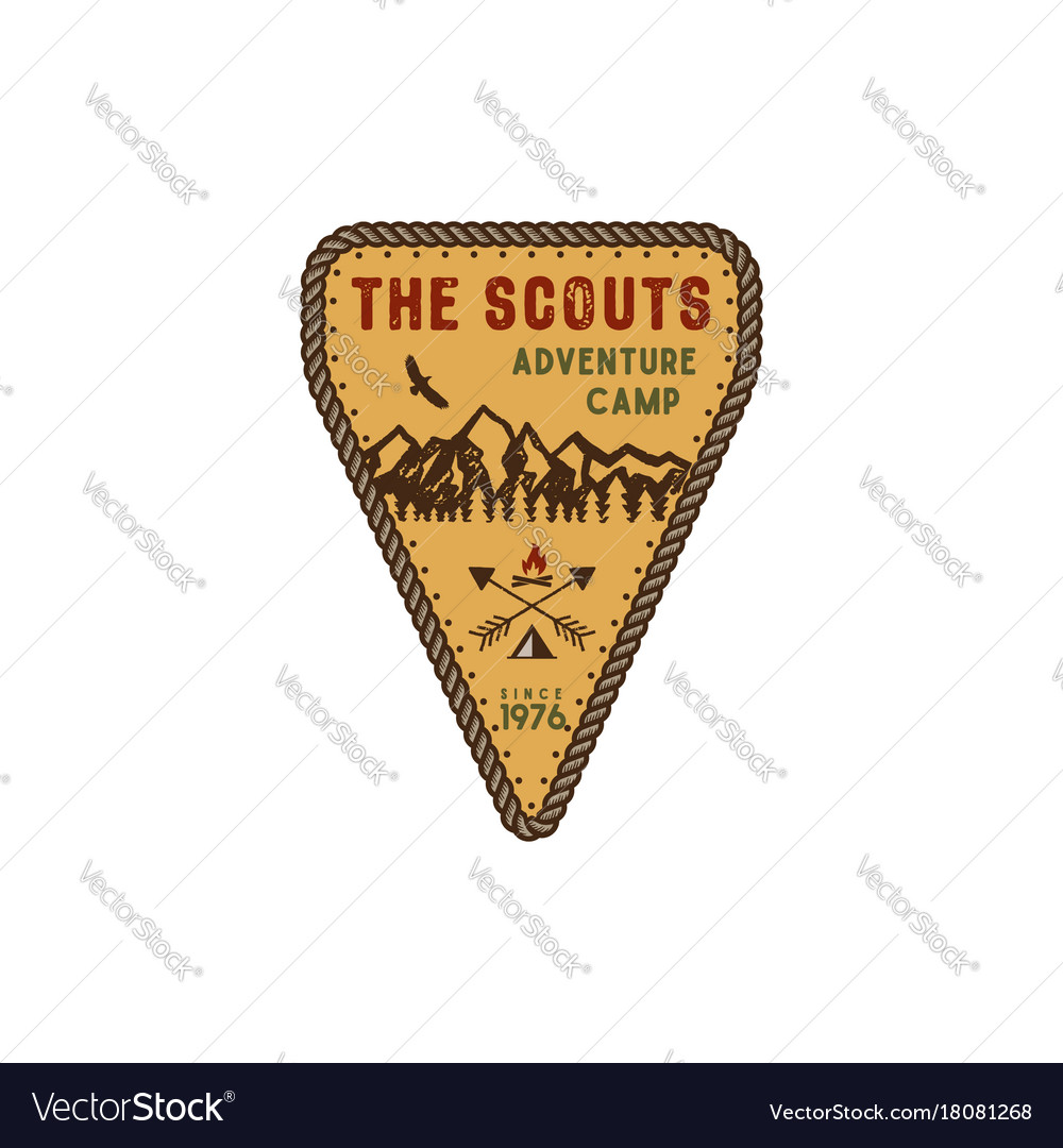 Traveling outdoor badge scout adventure camp