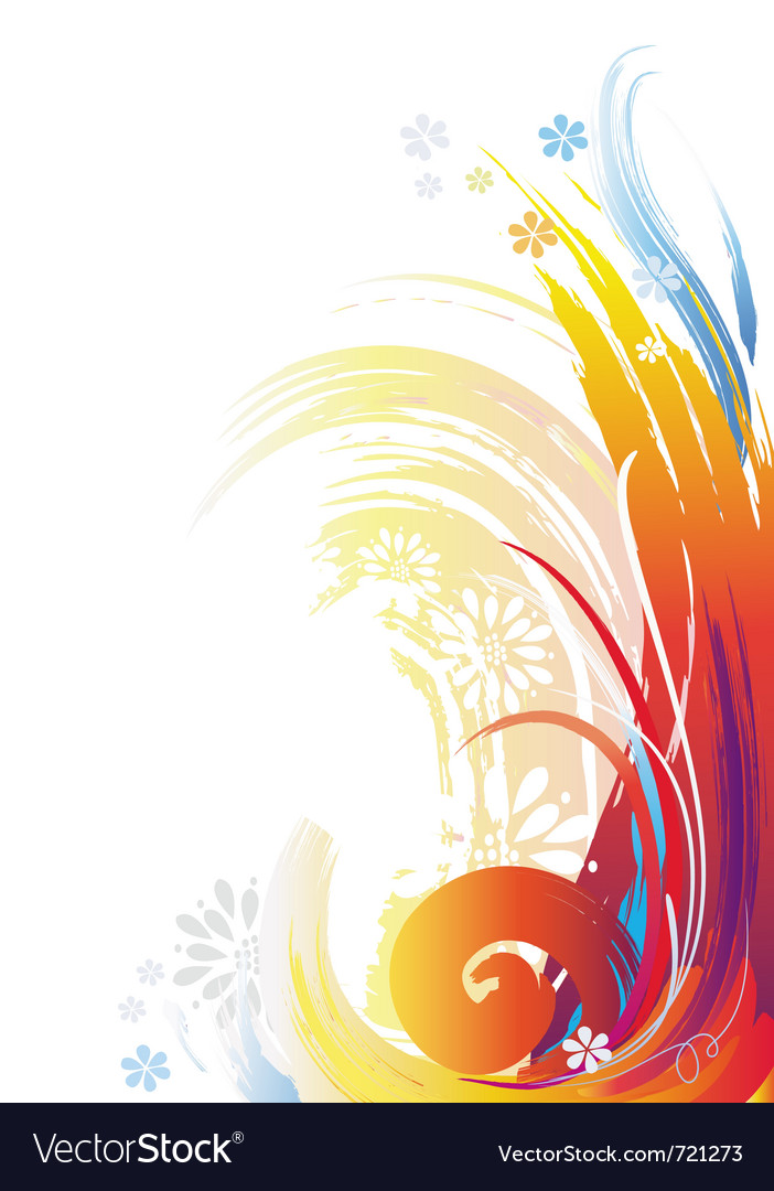background of color brush strokes royalty free vector image