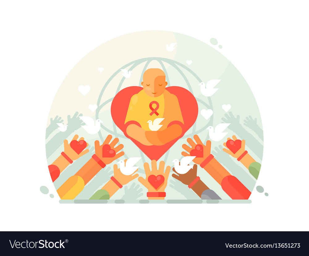 Charity and help vector image