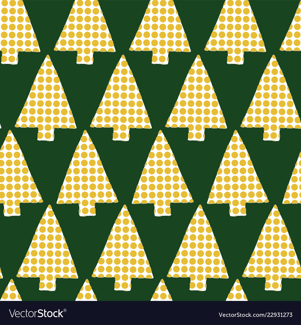 Christmas tree in rows seamless pattern