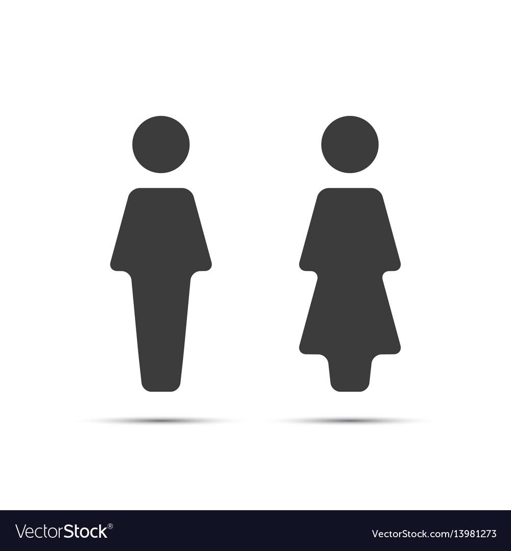 Grey wc icon toilet