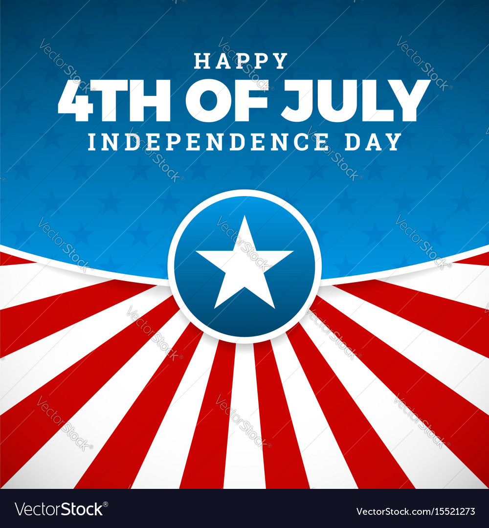 Independence day design holiday in united states