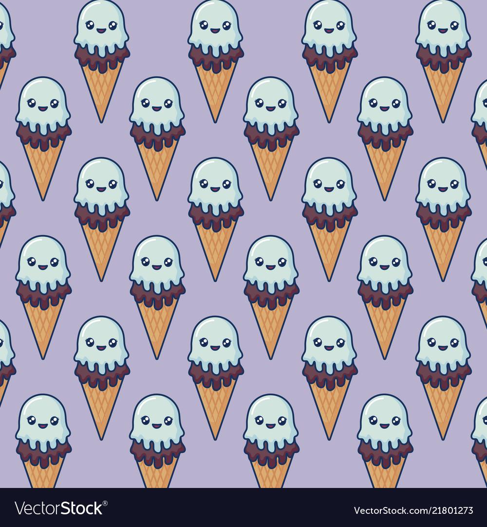 Kawaii ice cream design
