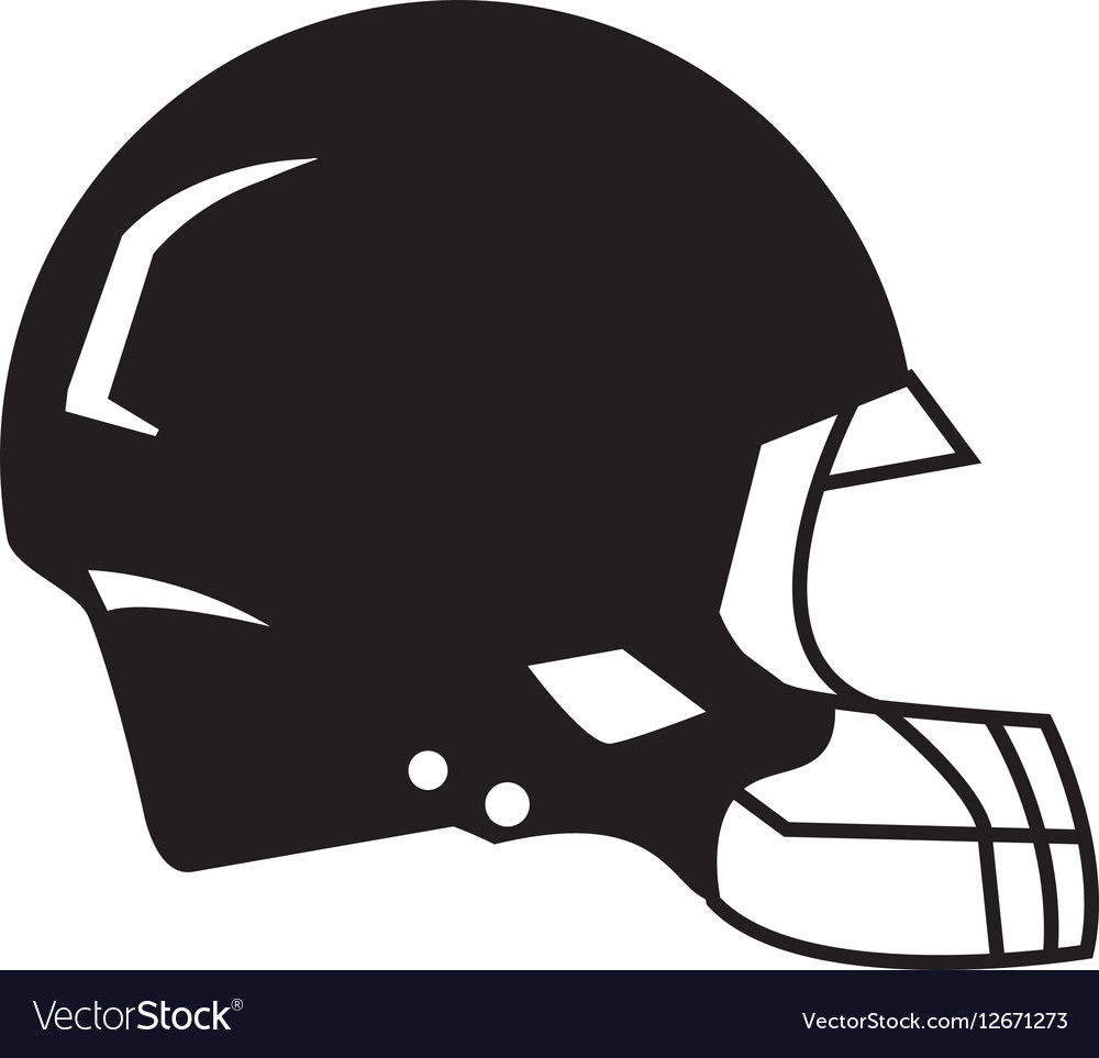 Silhouette American Football Helmet Protection