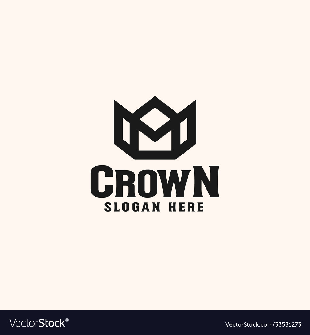Vintage crown logo royal king queen abstract logo
