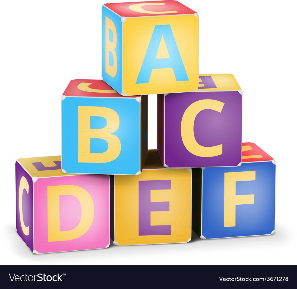 Abc cubes pyramide
