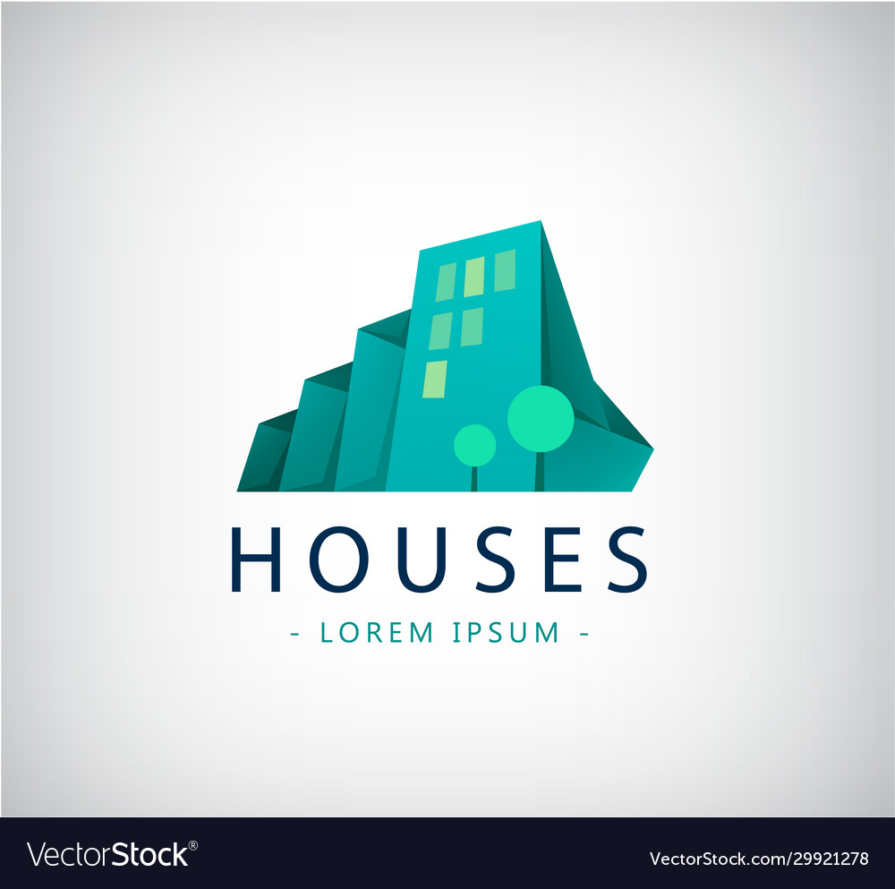 Abstract colorful city building