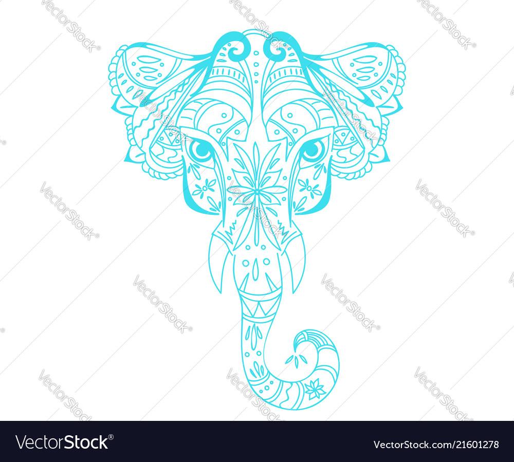 Abstract head elephant