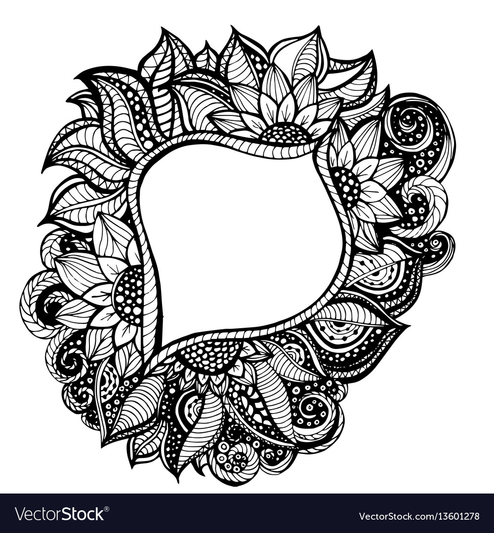 Adult coloring frame