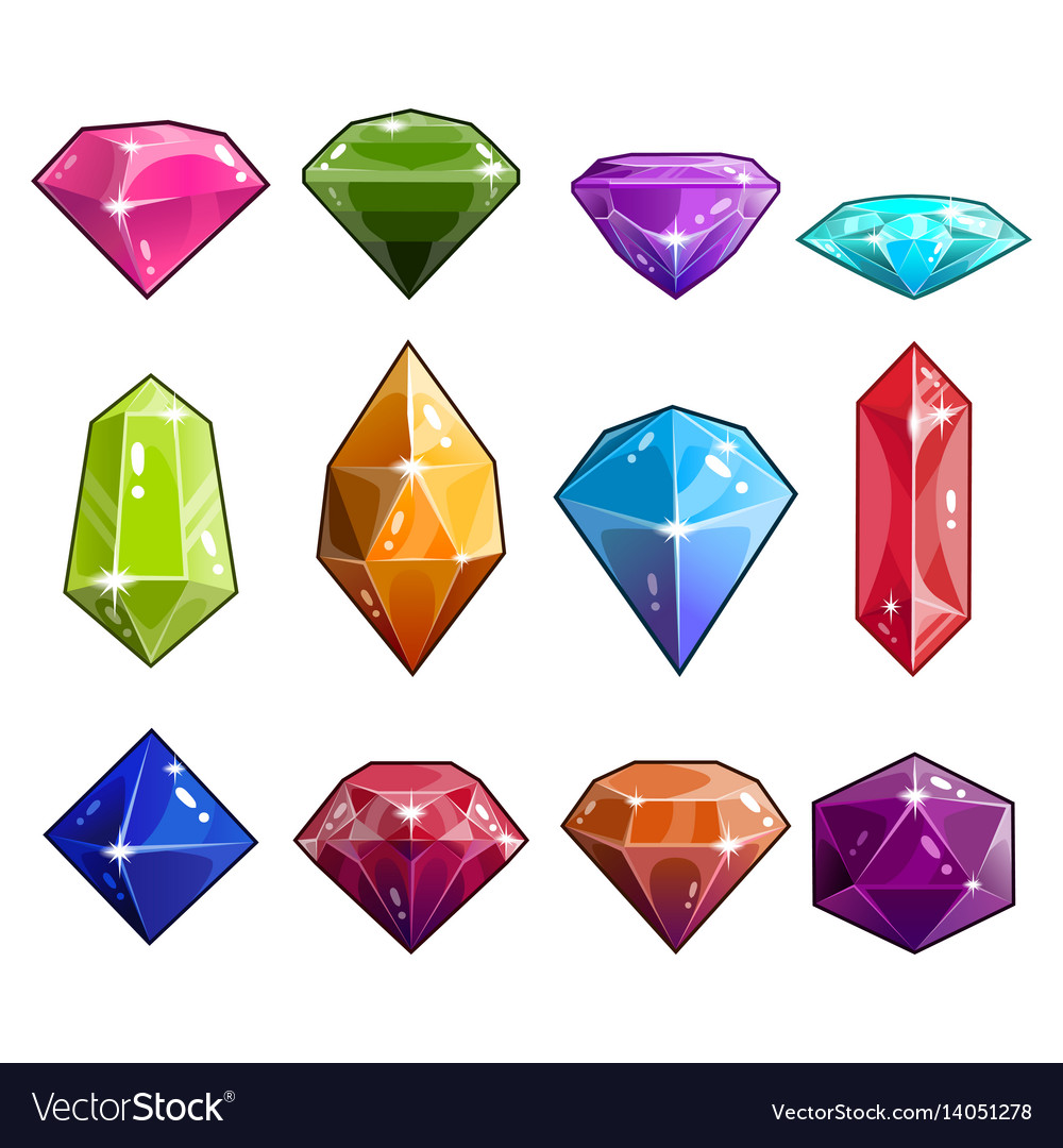 Big set of jewels and diamonds icons